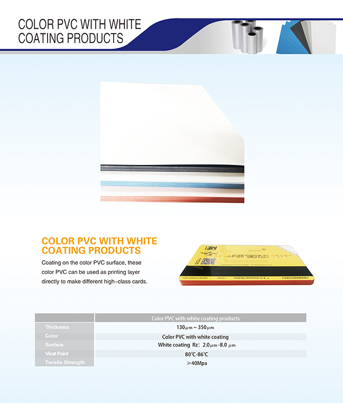 Color PVC With White Coating Products